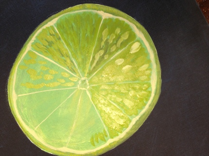 Step 6 - Looking more like a lime...